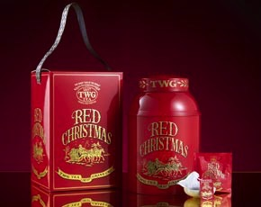Red Christmas Tea Collector's Gift Box